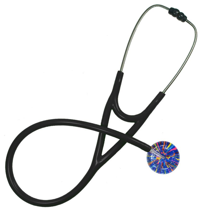UltraScope Cardiology Stethoscope Confetti Royal Blue