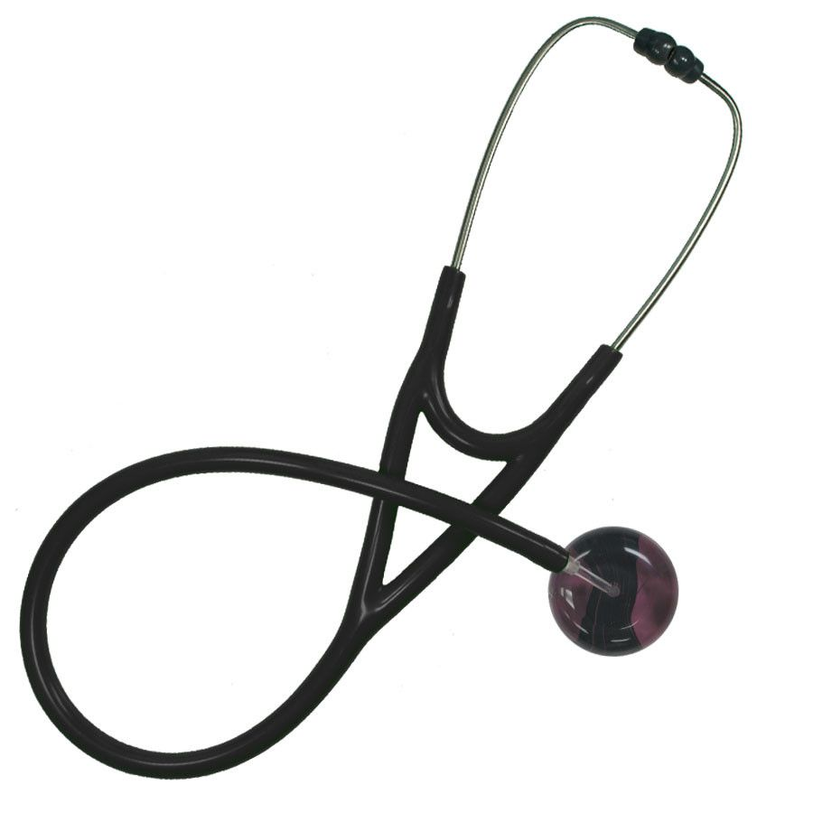 UltraScope Cardiology Stethoscope Black Wave Burgundy