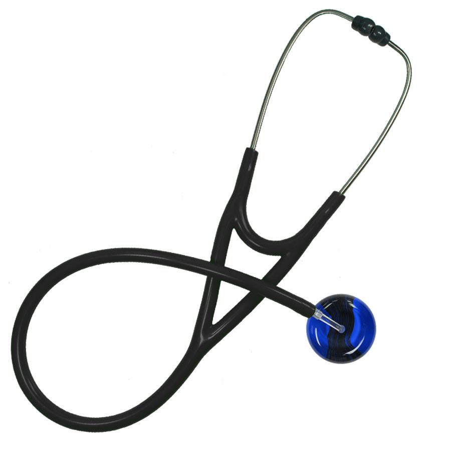 UltraScope Cardiology Stethoscope Black Wave Royal Blue