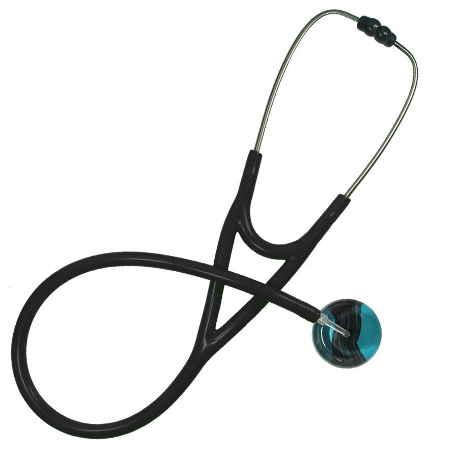 UltraScope Cardiology Stethoscope Black Wave Teal