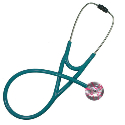 UltraScope Cardiology Stethoscope Streak of Colors Silver