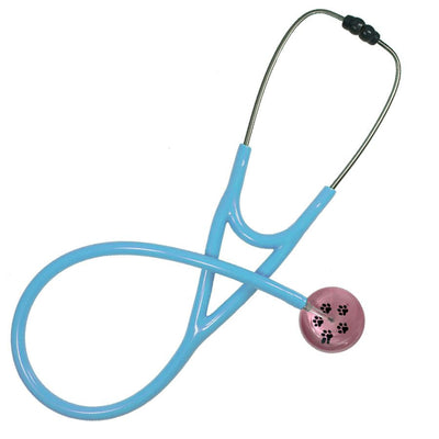 UltraScope Cardiology Stethoscope Paw Prints Light Pink