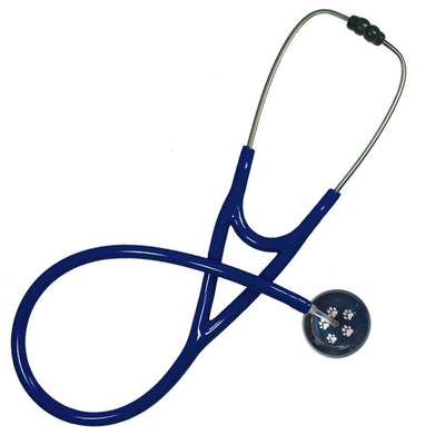 UltraScope Cardiology Stethoscope Paw Prints Navy Blue