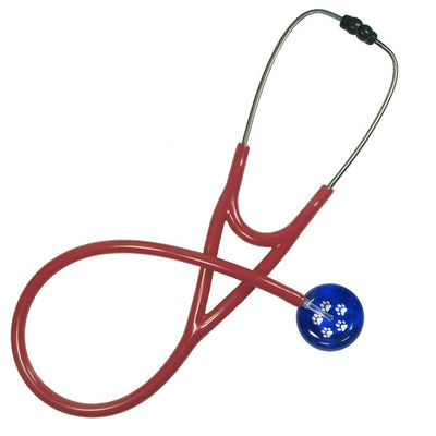 UltraScope Cardiology Stethoscope Paw Prints Royal Blue