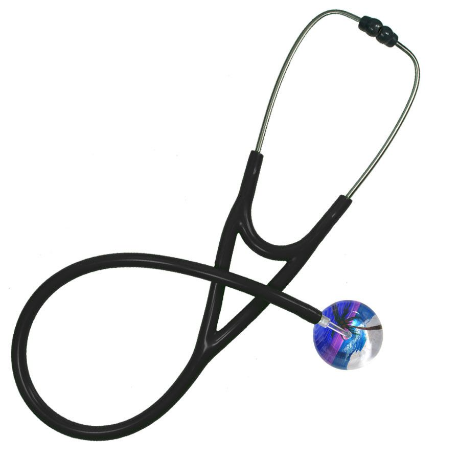 UltraScope Cardiology Stethoscope Palm Tree Blue