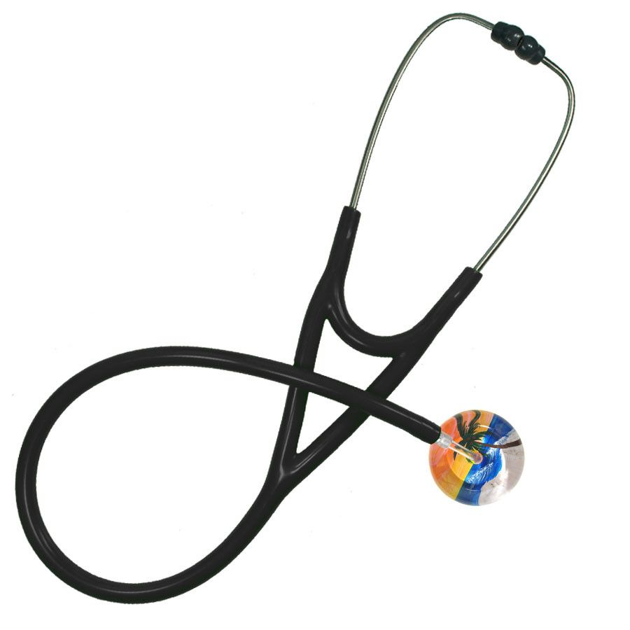 UltraScope Cardiology Stethoscope Palm Tree Orange