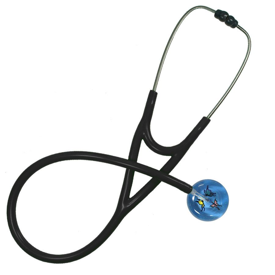UltraScope Cardiology Stethoscope Butterflies Light Blue