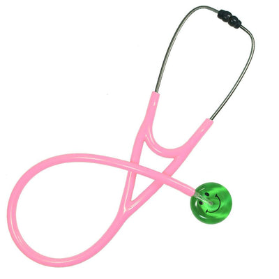 UltraScope Cardiology Stethoscope Smiley Face Light Green