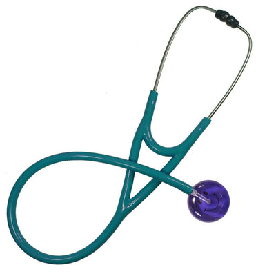 UltraScope Cardiology Stethoscope Smiley Face Purple