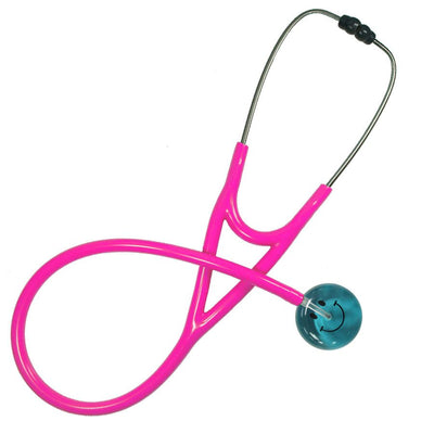 UltraScope Cardiology Stethoscope Smiley Face Teal