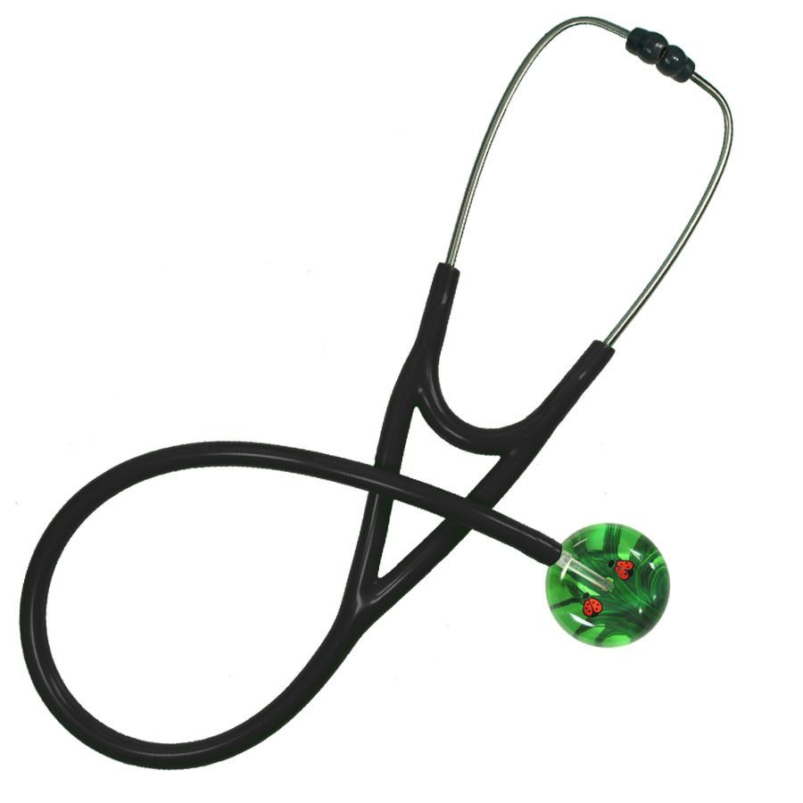 UltraScope Cardiology Stethoscope Ladybugs Light Green