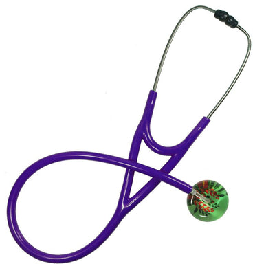 UltraScope Cardiology Stethoscope Flower Vines Light Green