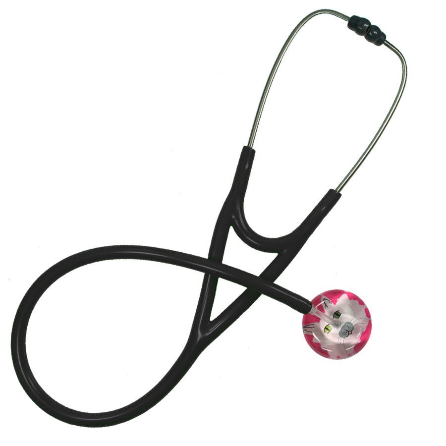 UltraScope Cardiology Stethoscope Cat Face Hot Pink