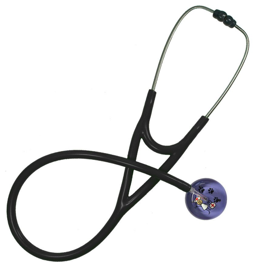 UltraScope Cardiology Stethoscope Stick Nurse Lavender with Paws
