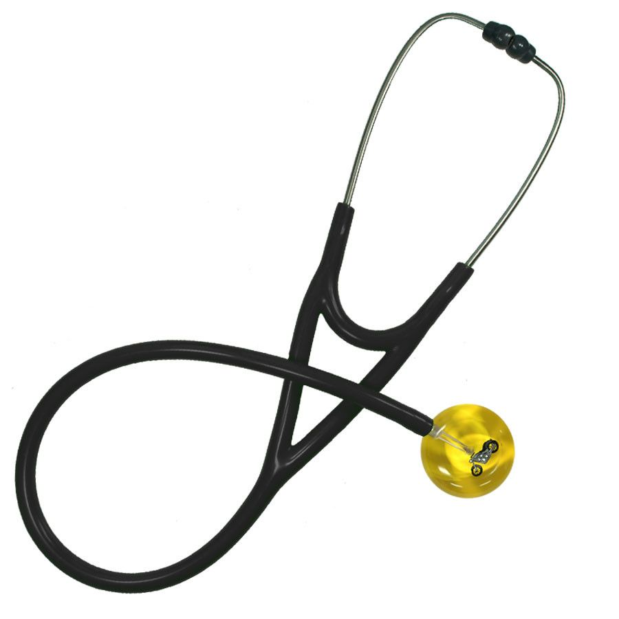 UltraScope Cardiology Stethoscope Motorcycle Yellow
