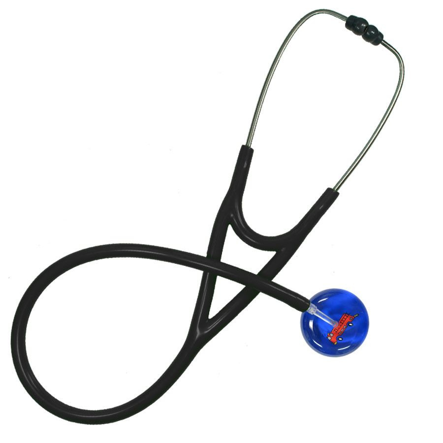 UltraScope Cardiology Stethoscope Fire Truck Royal Blue