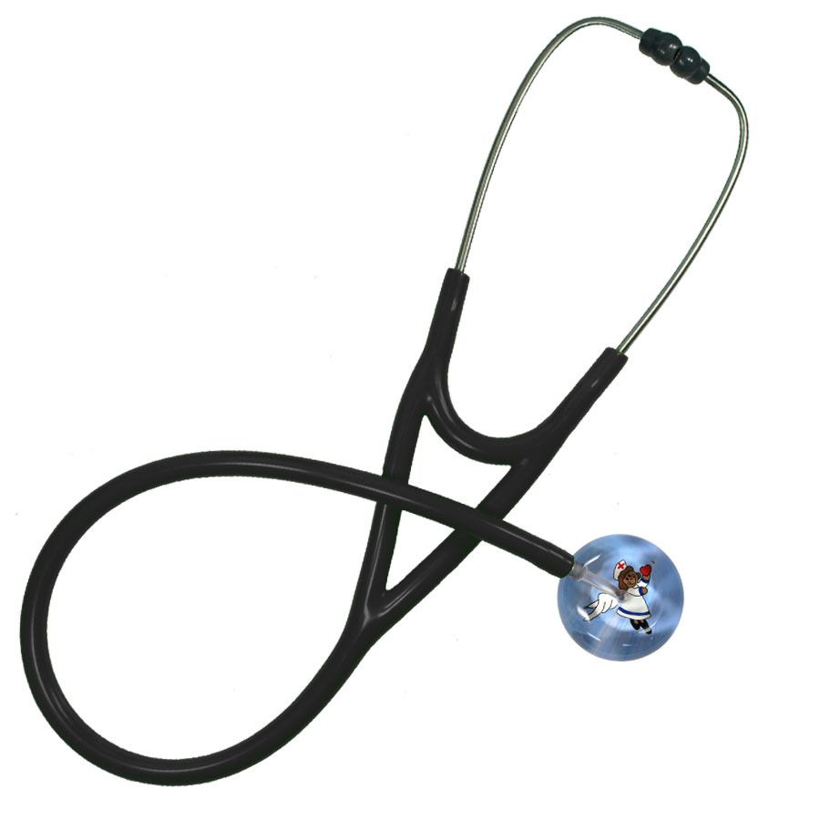 UltraScope Cardiology Stethoscope Flying Nurse Dark Skin