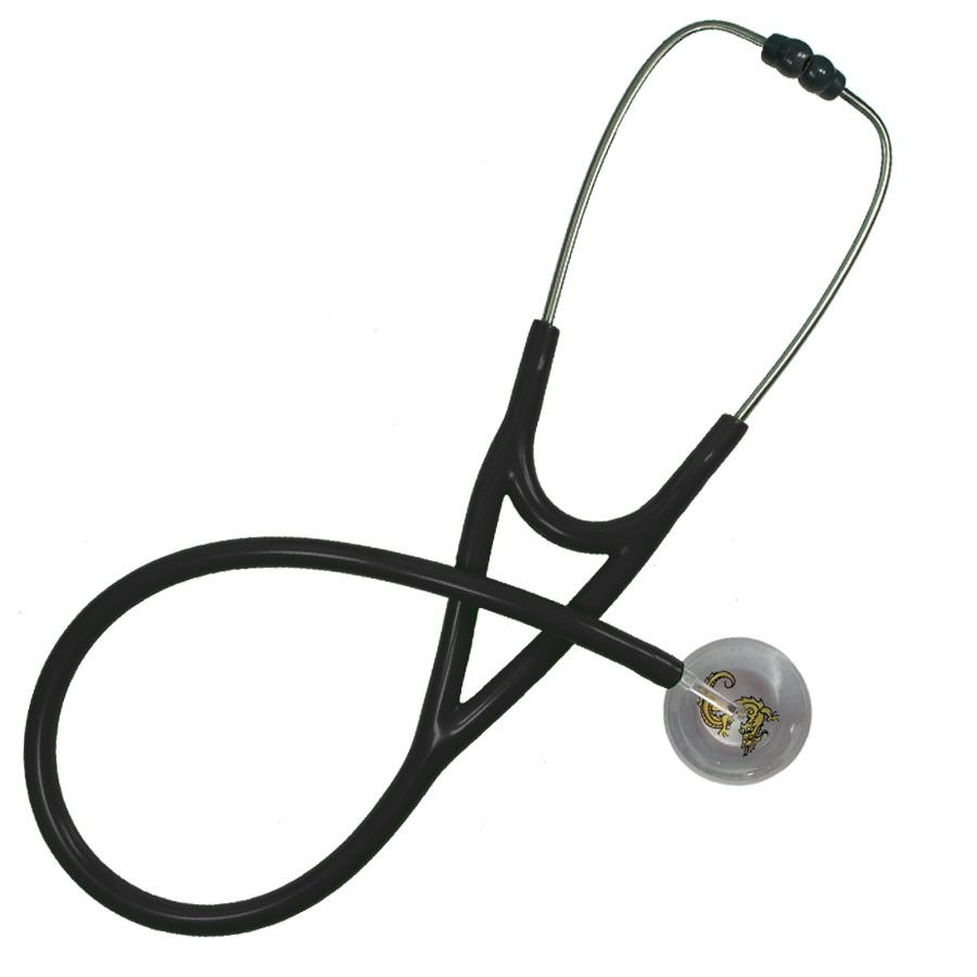 UltraScope Cardiology Stethoscope Asian Dragon Silver