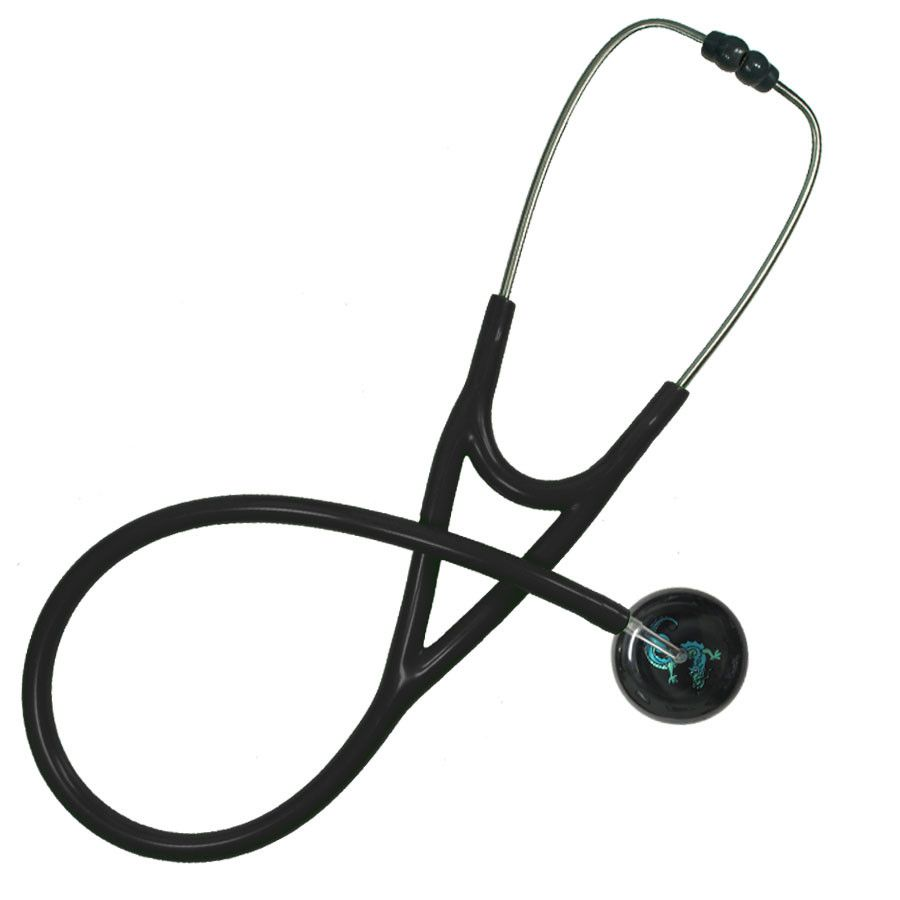 UltraScope Cardiology Stethoscope Asian Dragon Black