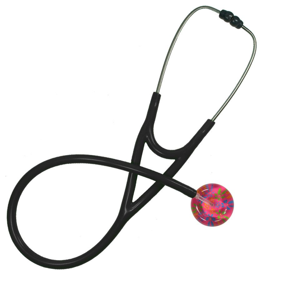 UltraScope Cardiology Stethoscope Flower Power Hot Pink