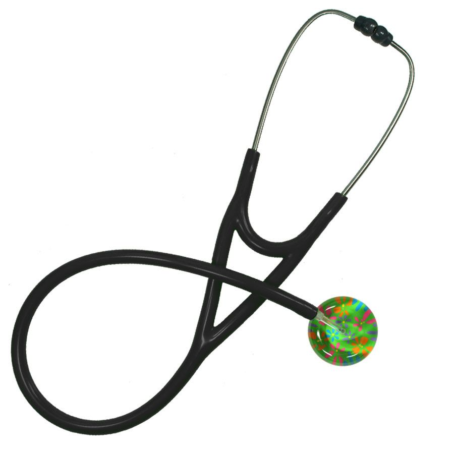 UltraScope Cardiology Stethoscope Flower Power Light Green