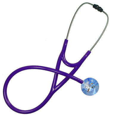 UltraScope Cardiology Stethoscope Stork and Baby Light Blue