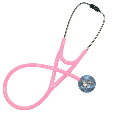 UltraScope Cardiology Stethoscope Stork and Baby Light Pink