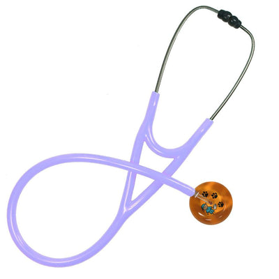 UltraScope Cardiology Stethoscope Stick Scrubs Orange with Paws