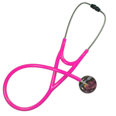 UltraScope Single Stethoscope 50's Chic Burgundy with hot pink tubing by Ultrascope