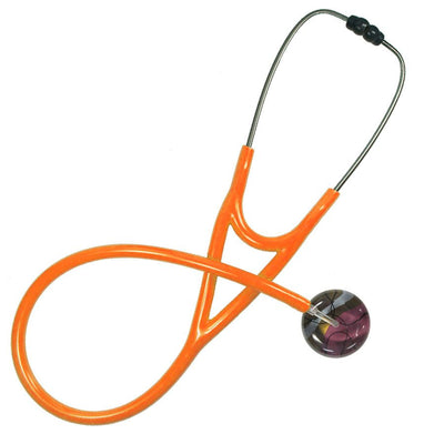 UltraScope Single Stethoscope 50's Chic Burgundy with orange tubing by Ultrascope