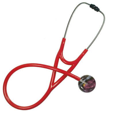 UltraScope Single Stethoscope 50's Chic Burgundy with red tubing by Ultrascope