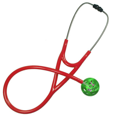UltraScope Cardiology Stethoscope Kitty and Doggie Light Green
