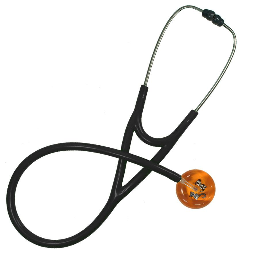 UltraScope Cardiology Stethoscope Kitty and Doggie Orange