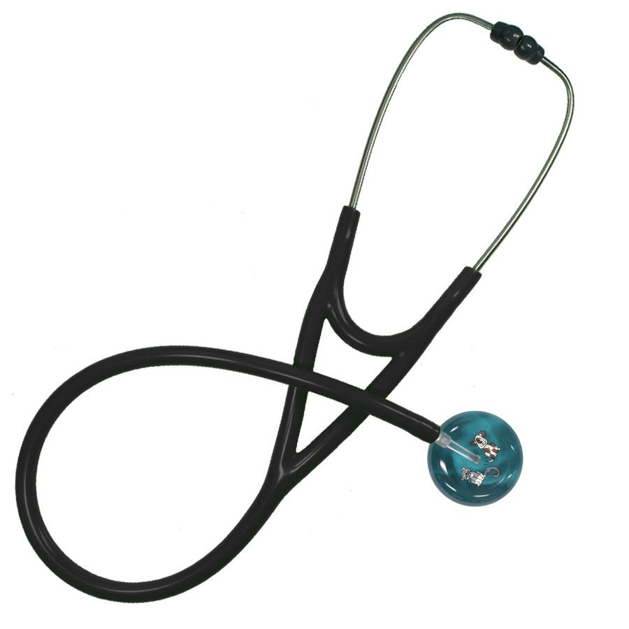 UltraScope Cardiology Stethoscope Kitty and Doggie Teal
