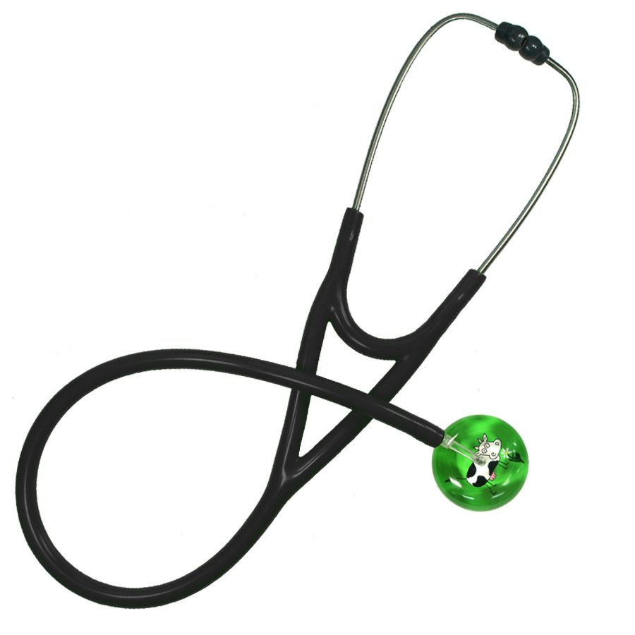 UltraScope Cardiology Stethoscope Cartoon Cow Light Green