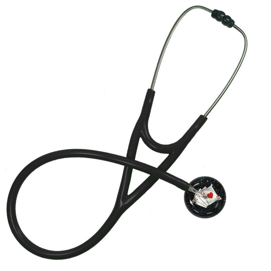 UltraScope Cardiology Stethoscope Playing cards Black