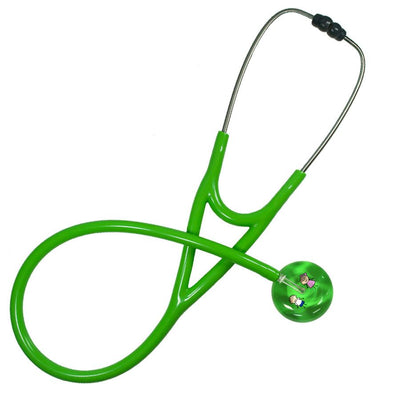 UltraScope Cardiology Stethoscope Stick Girl and Boy Light Green