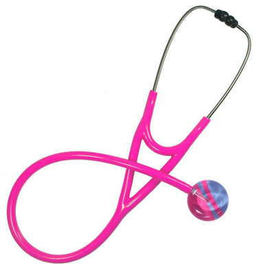 UltraScope Cardiology Stethoscope Diagonal Light Blue and Hot Pink