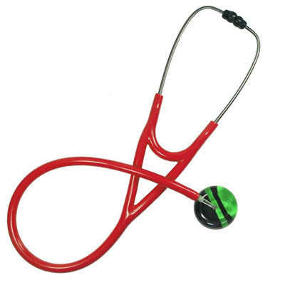 UltraScope Cardiology Stethoscope Diagonal Light Green and Black