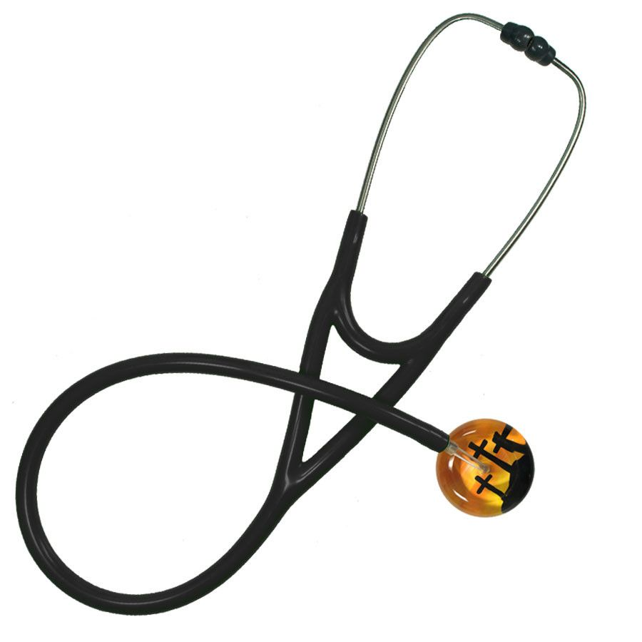 UltraScope Cardiology Stethoscope Three Crosses Orange