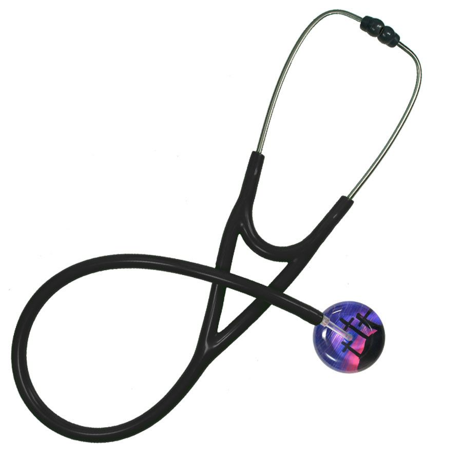 UltraScope Cardiology Stethoscope Three Crosses Purple