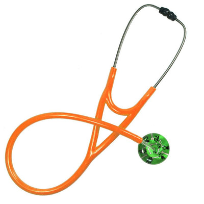 UltraScope Cardiology Stethoscope Bones & Paw Prints Light Green