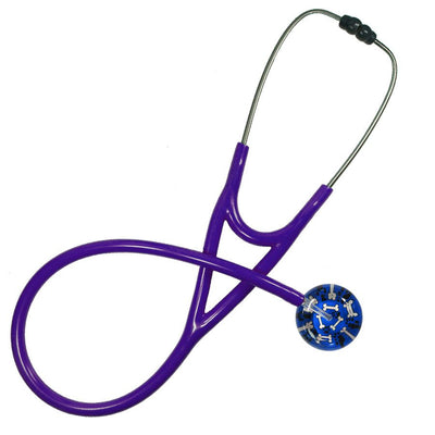 UltraScope Cardiology Stethoscope Bones & Paw Prints Royal Blue