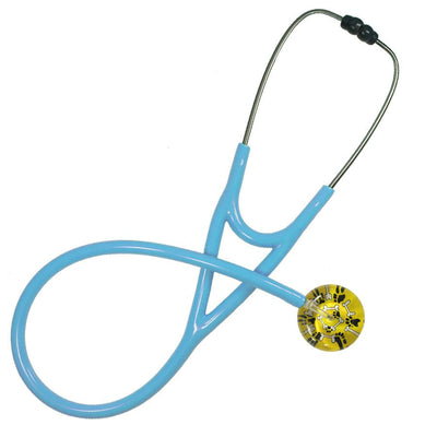 UltraScope Cardiology Stethoscope Bones & Paw Prints Yellow