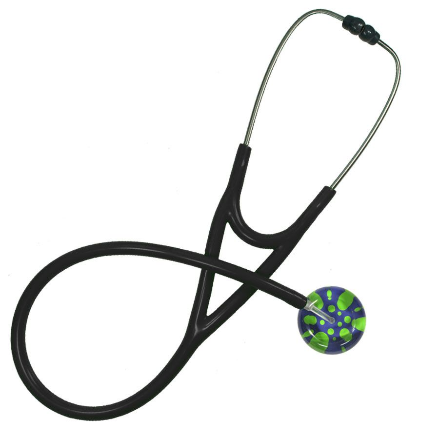 UltraScope Cardiology Stethoscope Polka Dots Purple and Light Green