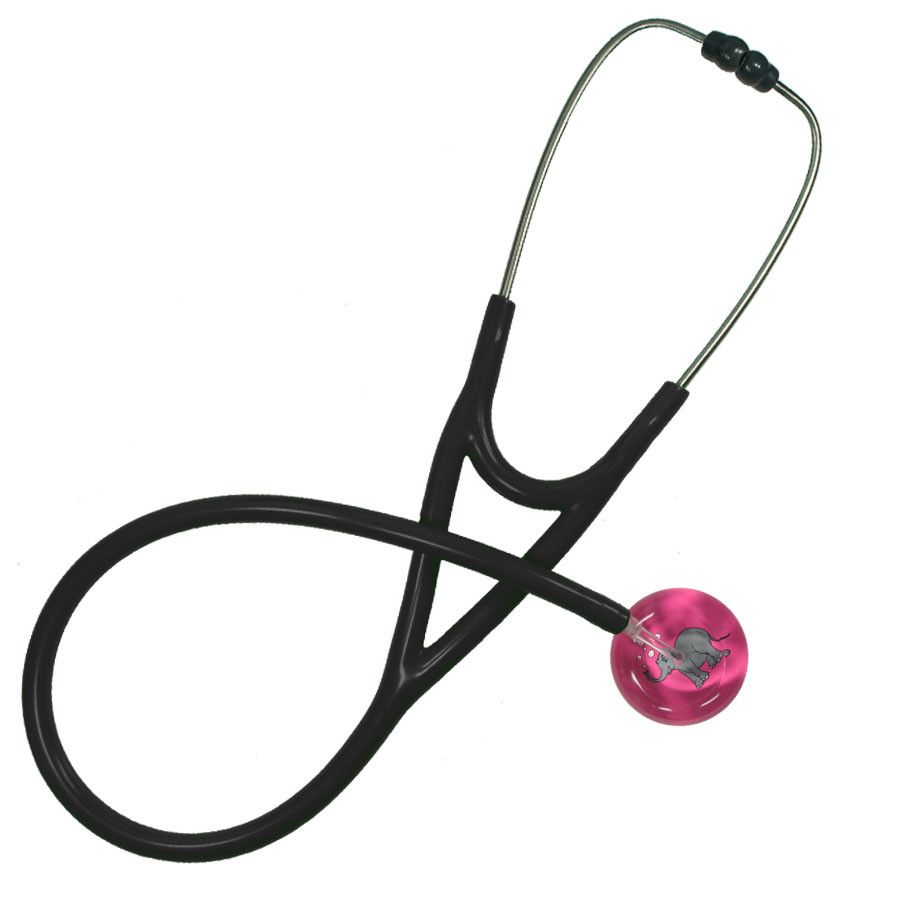 UltraScope Cardiology Stethoscope Bubbles Elephant Hot Pink
