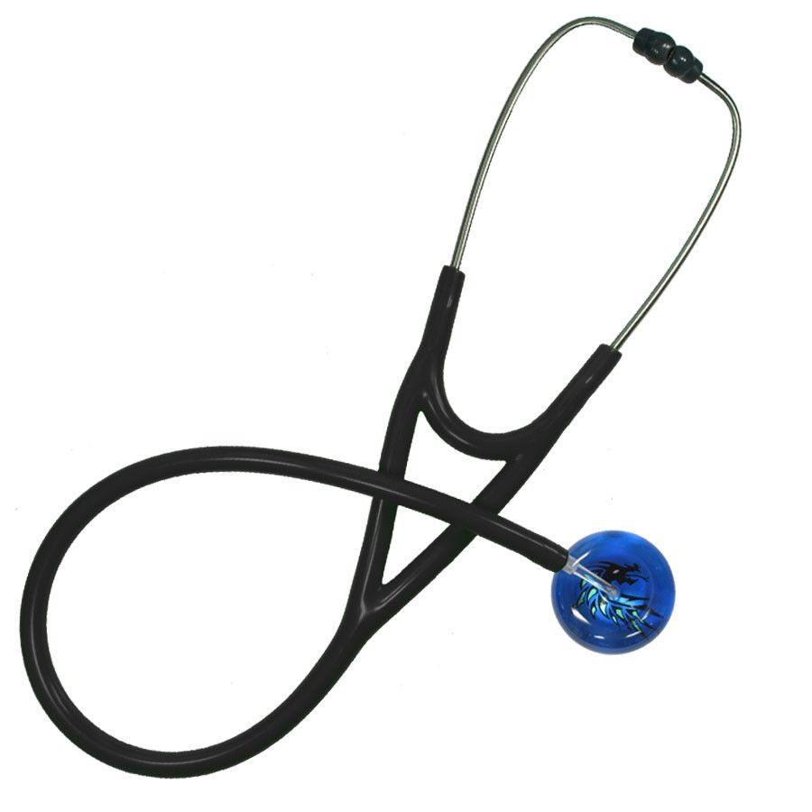 UltraScope Cardiology Stethoscope Dragon Head Royal Blue