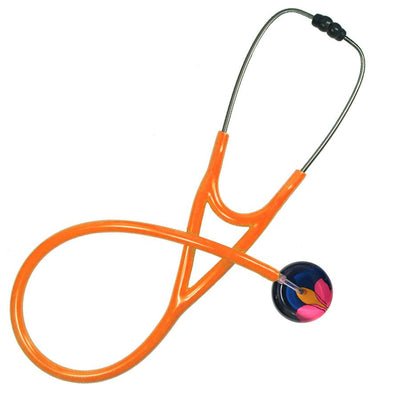 UltraScope Cardiology Stethoscope Lotus Flower Navy Blue