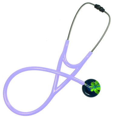 UltraScope Cardiology Stethoscope Abstract Daisy Navy Blue and Light Green