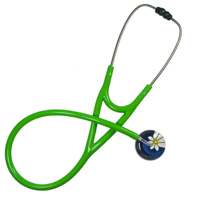 UltraScope Cardiology Stethoscope Abstract Daisy Navy Blue and White